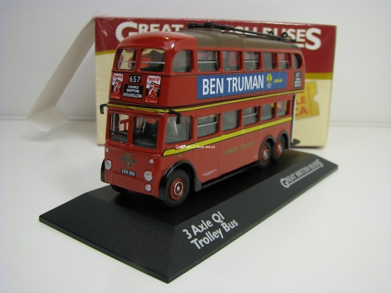 3 Axle Ql Trolley bus 1:76 Great Britisch Buses Atlas Edition