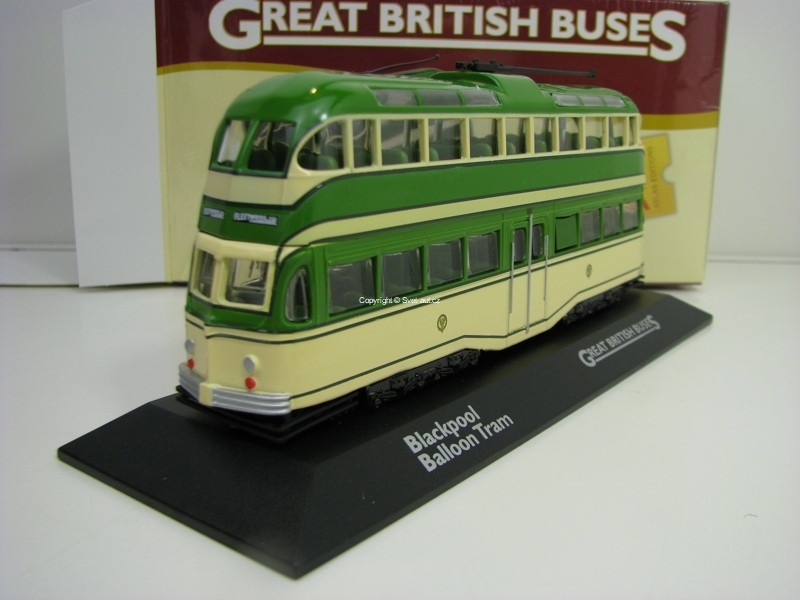 Tramvaj Blackpool Balloon 1:76 Great Britisch Buses Atlas Edition