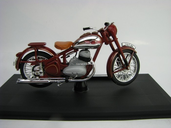 Jawa 350 Pérák 1950 Dark Cherry Red 1:18 Abrex