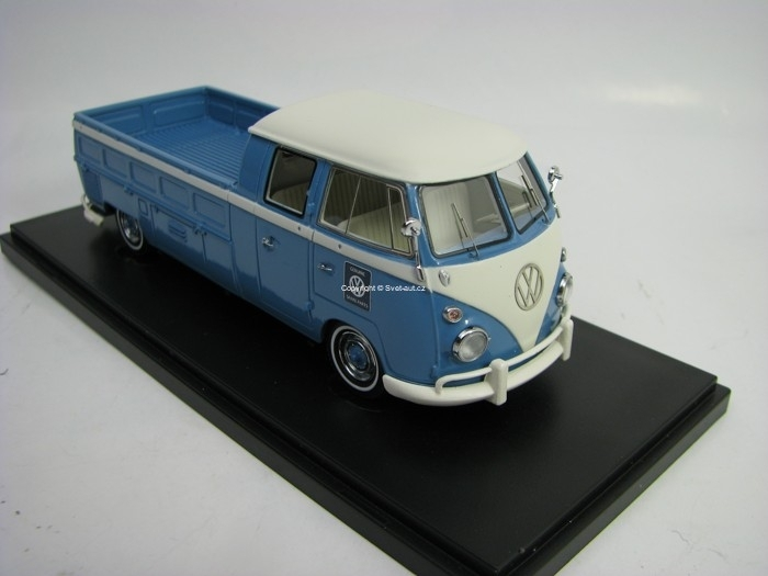 Volkswagen T1 Doka Pick Up Lang 1963 Blu 1:43 Autocult