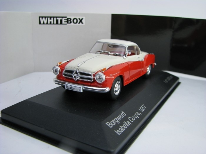 Borgward Isabella Coupe 1957 Red/White 1:43 White Box WB128