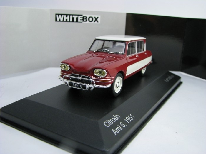 Citroen Ami 6 Red/White 1961 1:43 White Box WB155