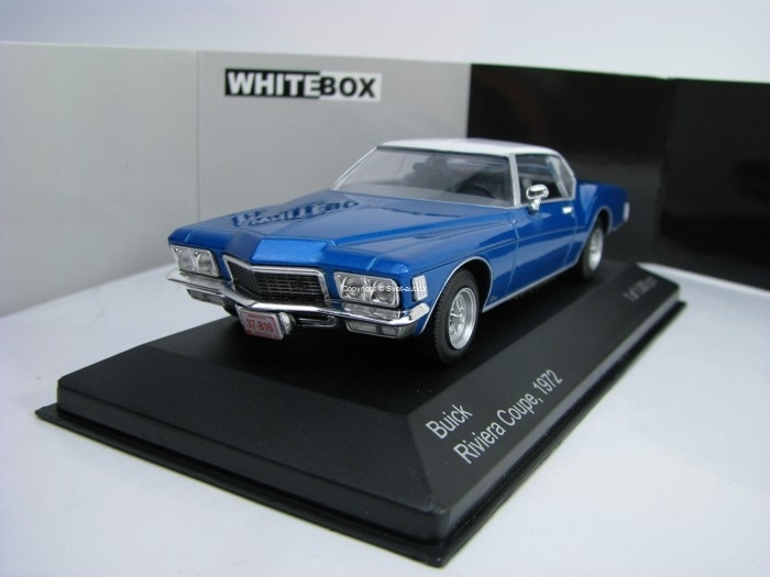 Buick Riviera Coupe 1972 Blue/White 1:43 White Box WB199
