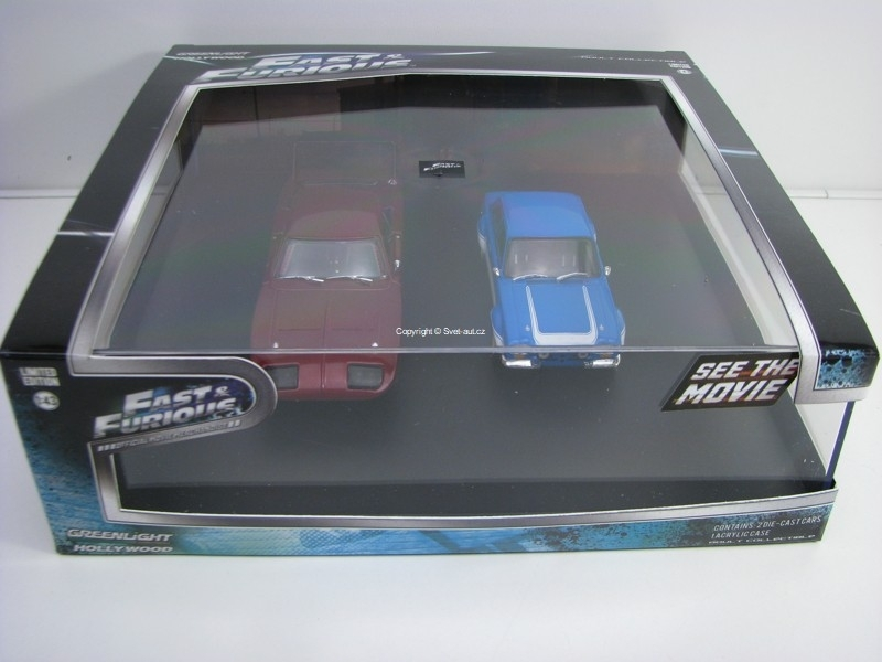 Dodge Charger Daytona 69 a Ford Escort RS The Fast and the Furious 1:43 Greenlight