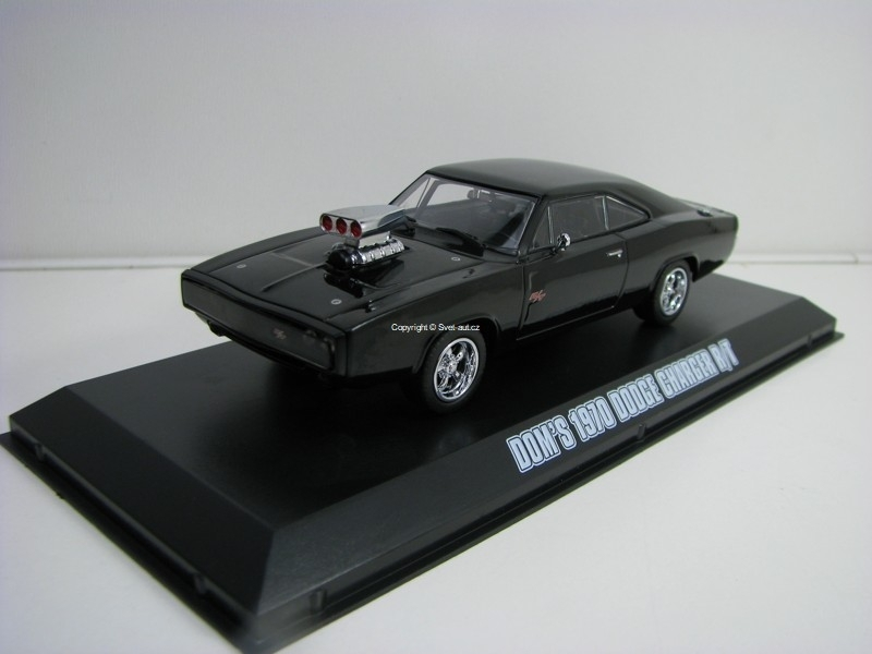Dom's Dodge Charger R/T 1970 Black The Fast and the Furious 1:43 Greenlight