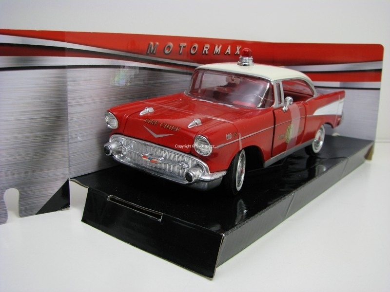 Chevrolet Bel Air Fire Chief Hasiči 1:24 Motor Max