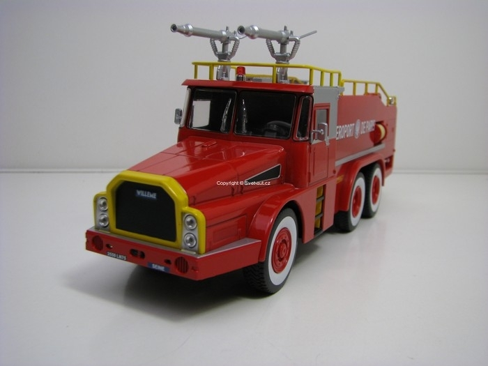 Willeme W8 DAE 6x6 Aeroport de Paris France Hasiči 1:43 Atlas Edition