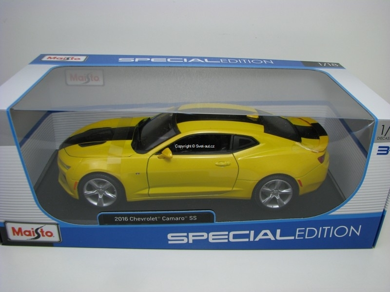 Chevrolet Camaro SS 2016 Yellow 1:18 Maisto