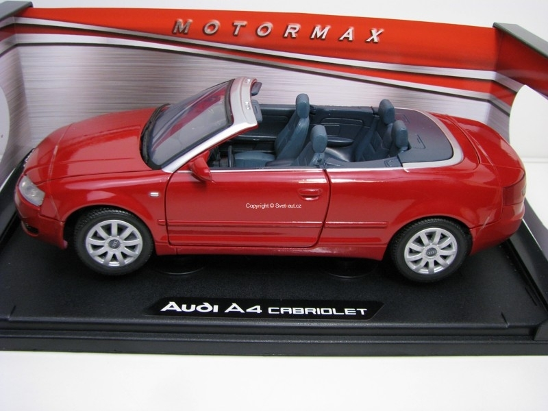 Audi A4 Cabriolet Red 1:18 Motor Max