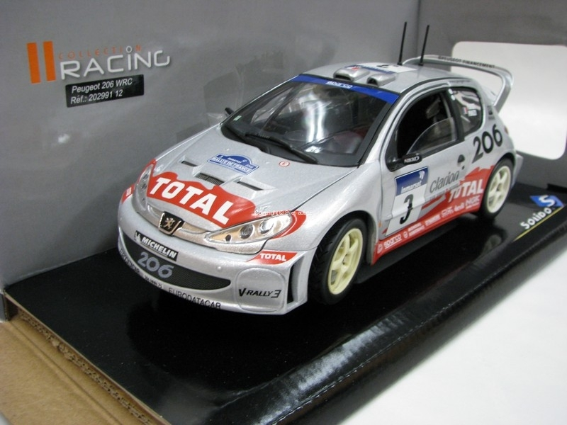Peugeot 206 WRC Rally France 2002 No.3 Panizzi 1:18 Solido