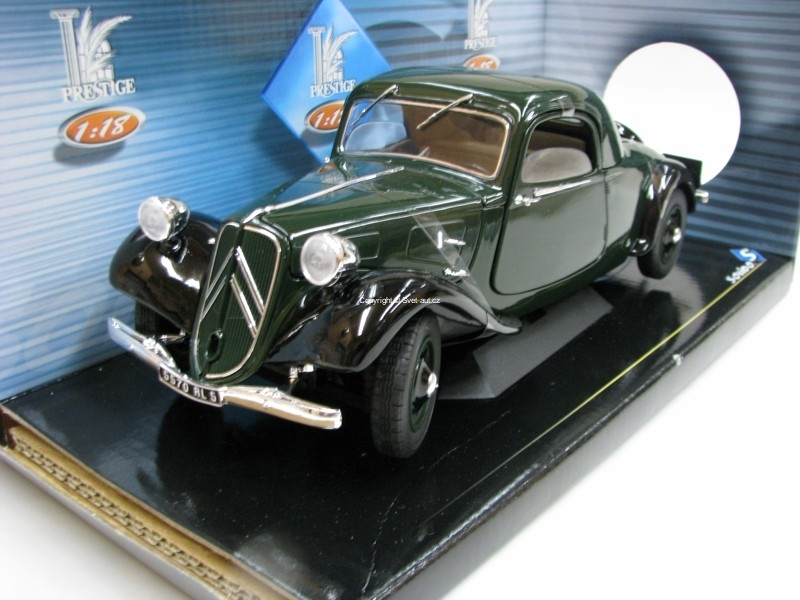 Citroen Traction AV 11 Coupé 1938 Green 1:18 Solido