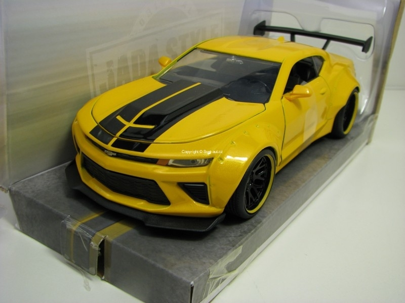 Chevrolet Camaro SS 2016 Yellow 1:24 Wide Body Jada Toys