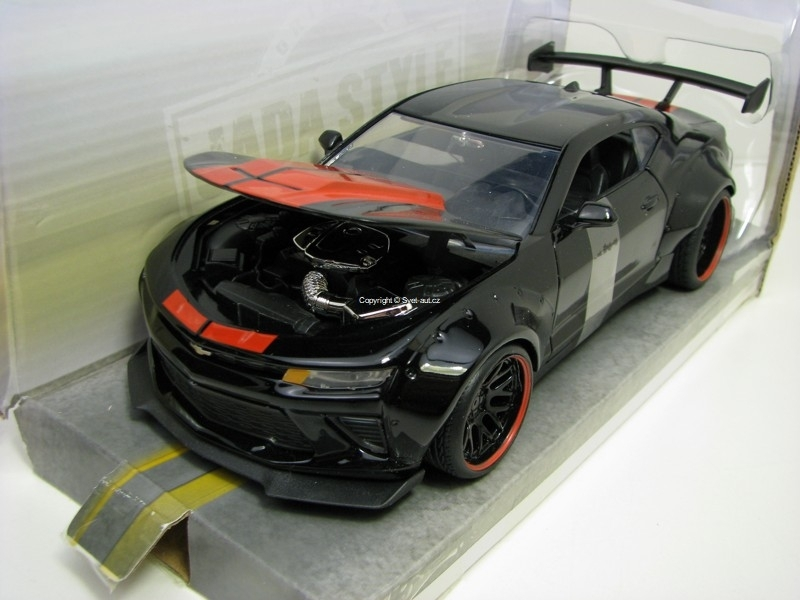 Chevrolet Camaro SS 2016 Black 1:24 Wide Body Jada Toys