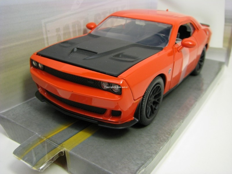 Dodge Challenger SRT Hellcat 2015 Orange 1:24 Bigtime Muscle Jada Toys