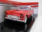 Ford Thunderbird 1956 Red 1:24 Motor Max