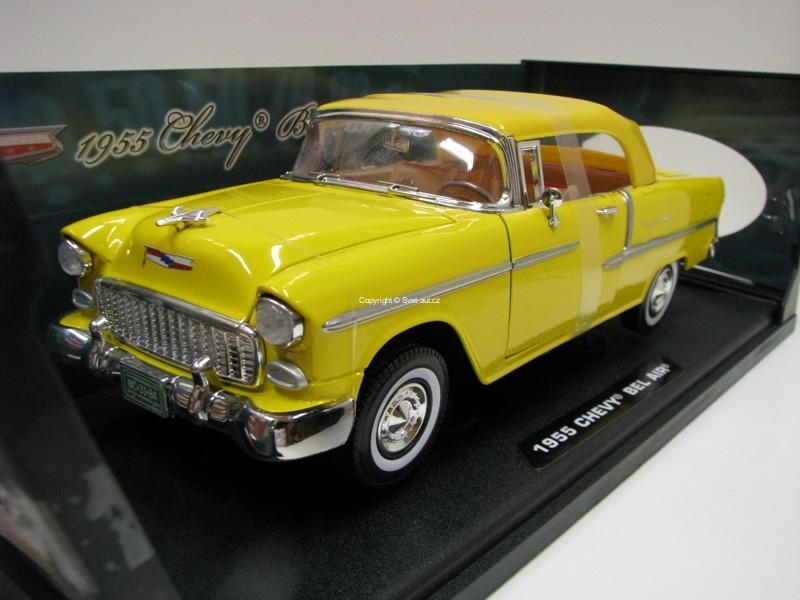 Chevrolet Bel Air 1955 Yellow Timeless Clasics 1:18 Motor Max