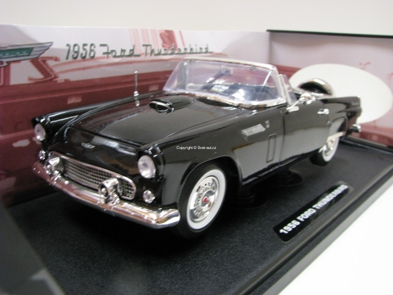 Ford Thunderbird Convertible 1956 Black Timeless Clasics 1:18 Motor Max
