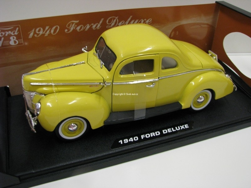 Ford Deluxe 1940 Yellow 1:18 Motor Max