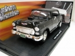 Chevrolet Bel Air 1955 Black Custom Classics 1:18 Motor Max