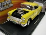 Chevrolet Bel Air 1955 Yellow Custom Classics 1:18 Motor Max