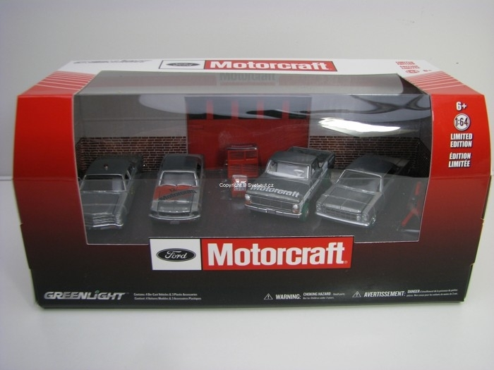 Ford Motorcraft Garage Multicar Dioramas 1:64 Greenlight 58040