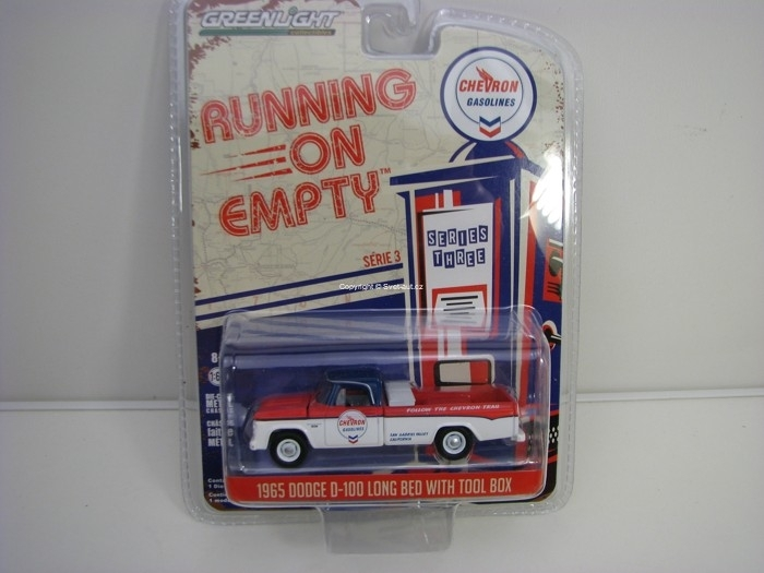 Dodge D-100 Long Bed with Tool box 1965 1:64 Runing On Empty série 3 Greenlight