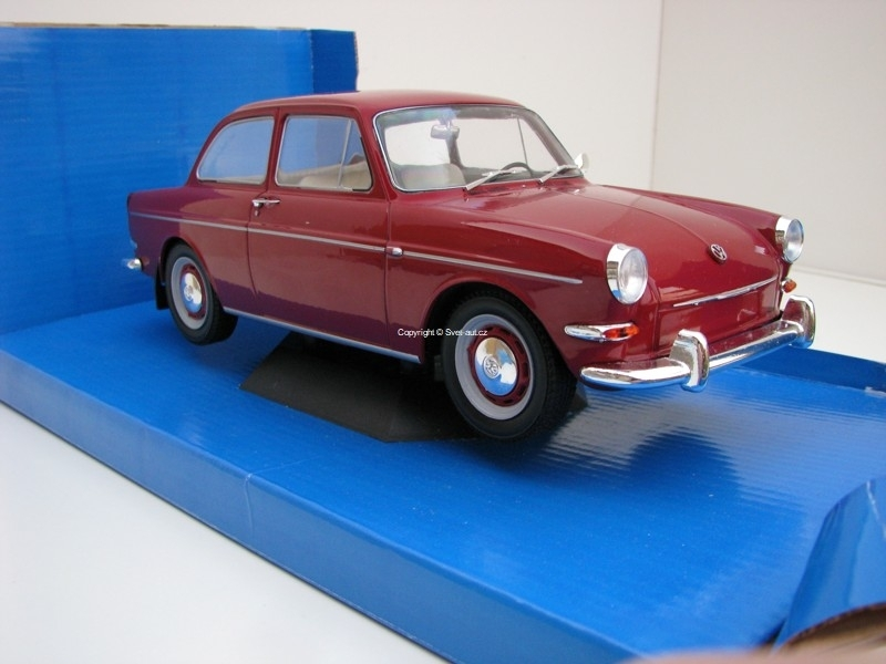 Volkswagen 1500S Typ3 1963 Dark Red 1:18 MCG Modelcar Group
