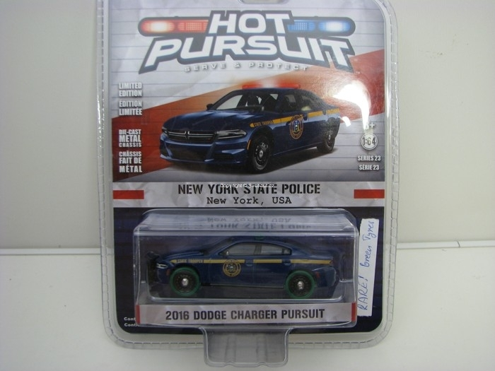 Dodge Charger 2016 Green Tyres 1:64 Hot Pursuit série 23 Greenlight