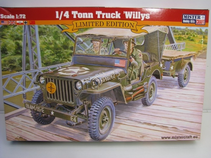 Jeep Willys 1/4 Ton stavebnice 1:72 Mister Craft