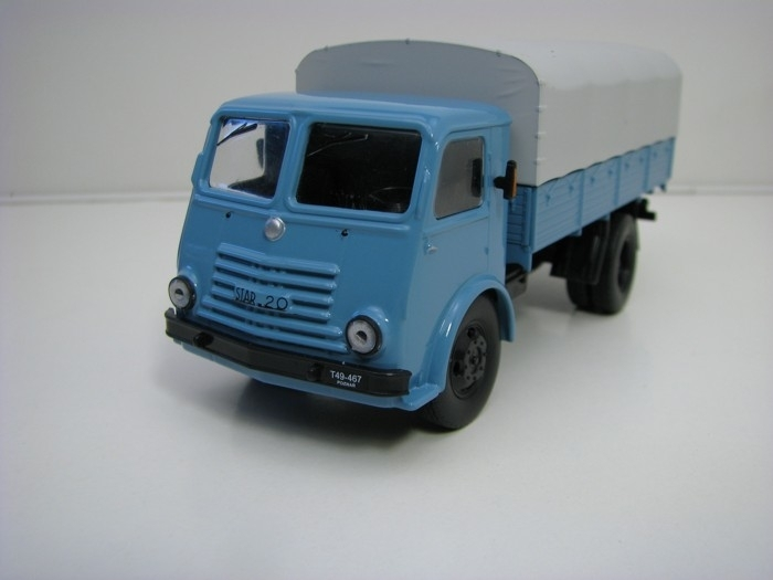 Star 20 valník s plachtou 1:43 Atlas Edition