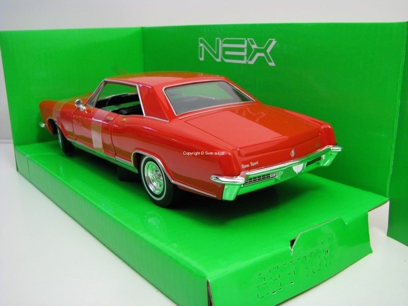 Buick Riviera Gran Sport 1965 Red 1:24 Welly
