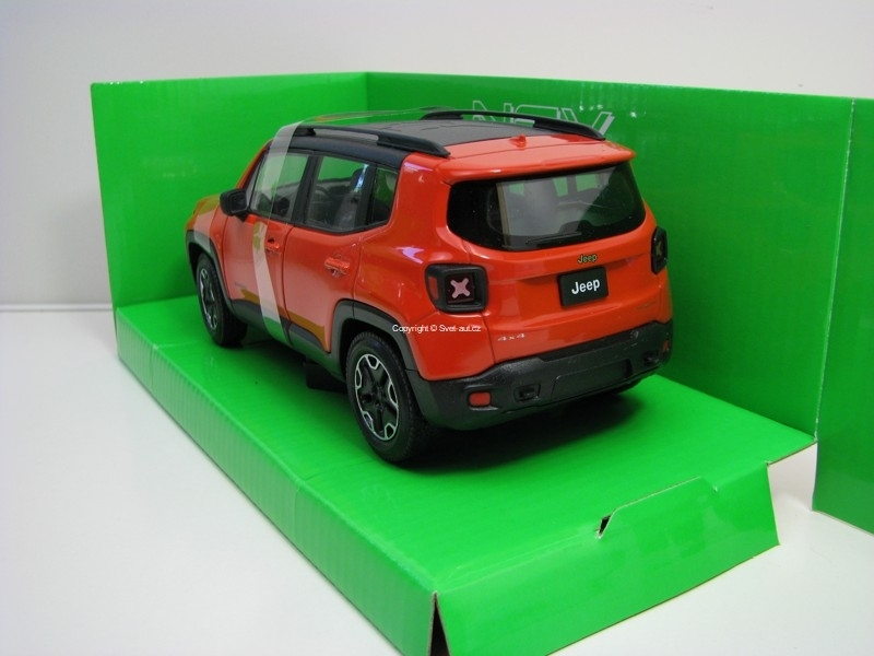 Jeep Renegade Trailhawk Orange 1:24 Welly