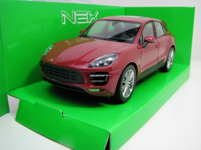 Porsche Macan Turbo Purple 1:24 Welly