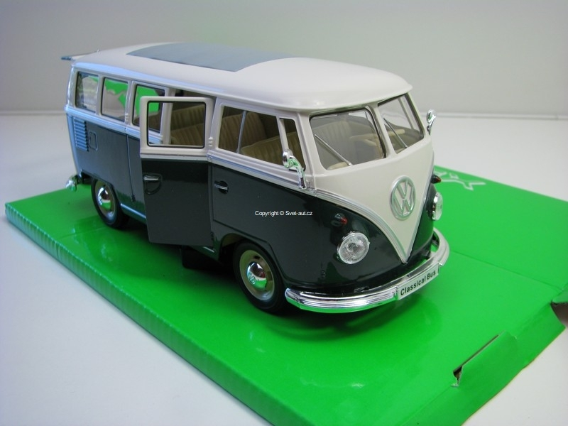 Volkswagen T1 Classical Bus 1963 Green/White 1:24 Welly