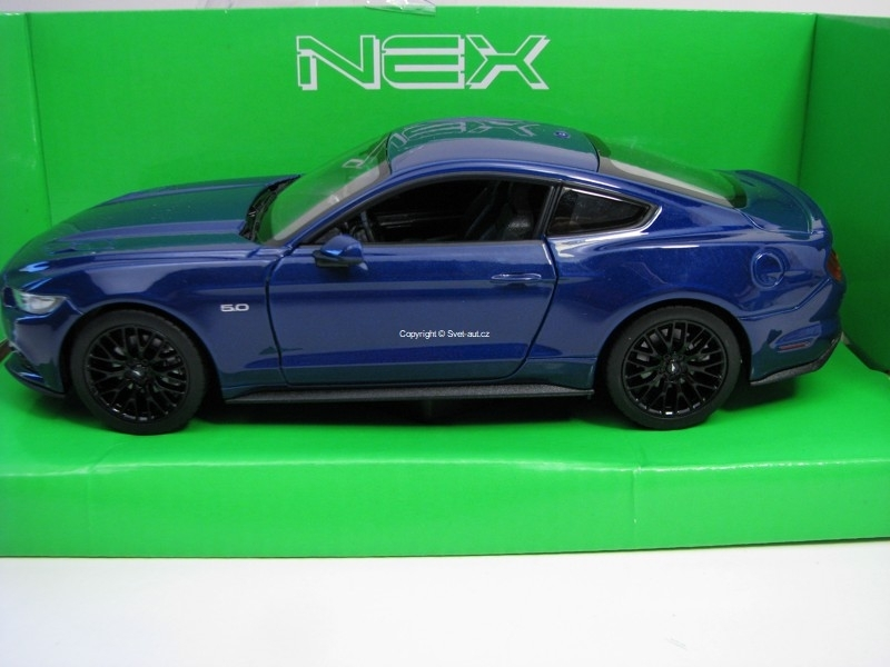 Ford Mustang GT 2015 Blue 1:24 Welly