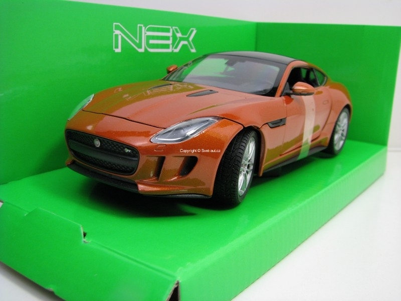 Jaguar F-Type Coupe Orange 1:24 Welly