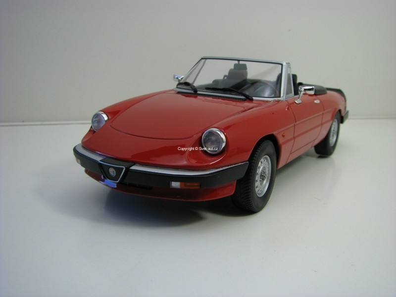 Alfa Romeo Spider 3 serie 1 1983 Red 1:18 KK scale