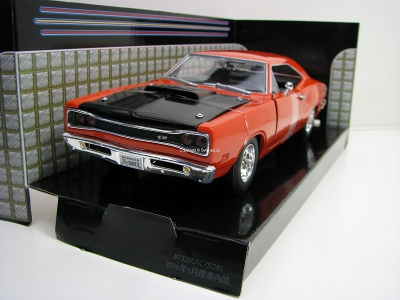 Dodge Coronet 1969 Super Bee Orange 1:24 Motor Max