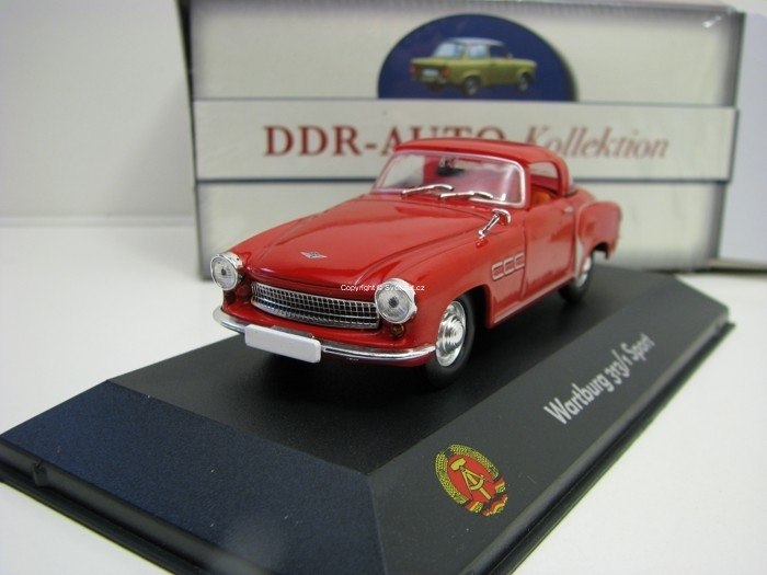 Wartburg 313/1 sport Red 1:43 Atlas Edition DDR-Auto