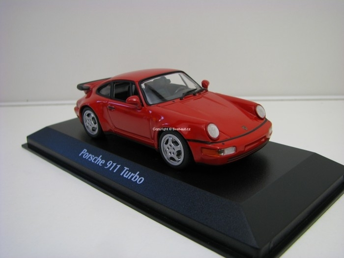Porsche 911 Turbo (964) 1990 Red 1:43 Maxichamps