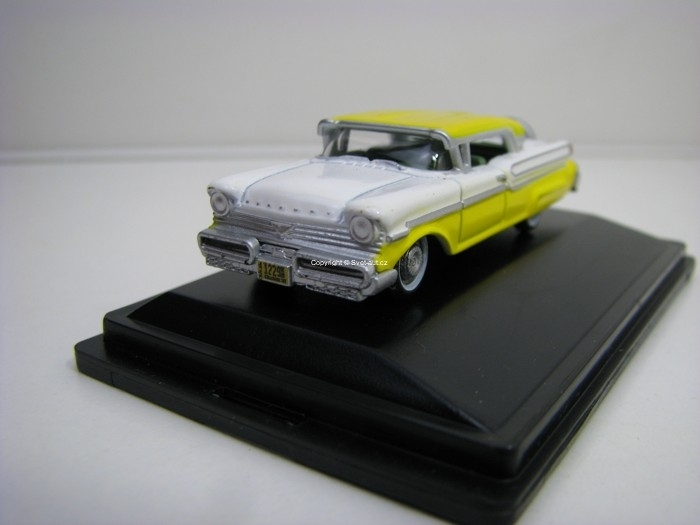 Mercury Turnpike 1957 Yellow White 1:87 Oxford