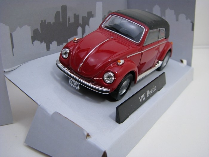 Volkswagen Beetle 1200 Cabrio Soft Top Red 1:43 Cararama