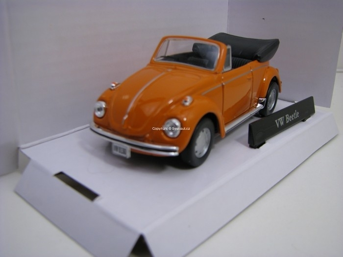 Volkswagen Beetle Cabrio Orange 1:43 Cararama