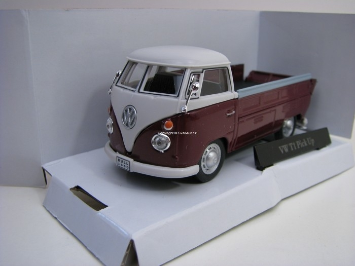 Volkswagen T1 Pick Up Purple 1:43 Cararama