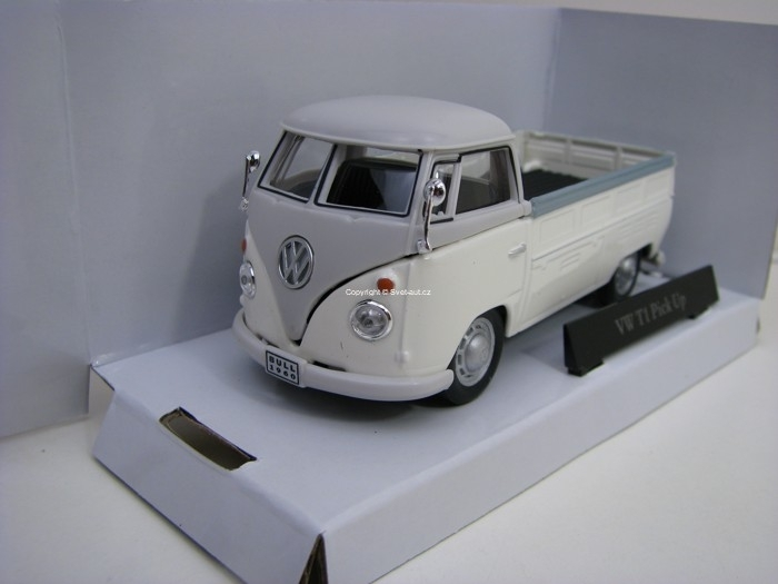 Volkswagen T1 Pick Up White/Grey 1:43 Cararama