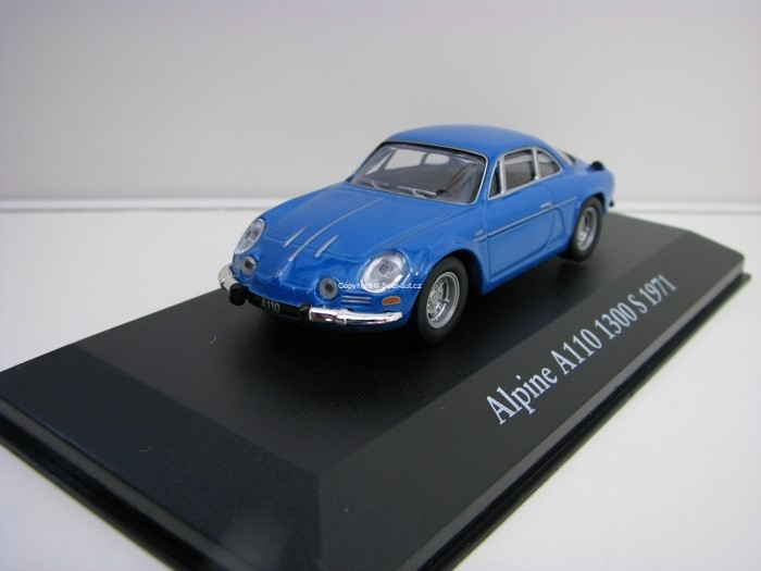 Renault Alpine A110 1300 S 1971 Blue 1:43 Atlas Edition