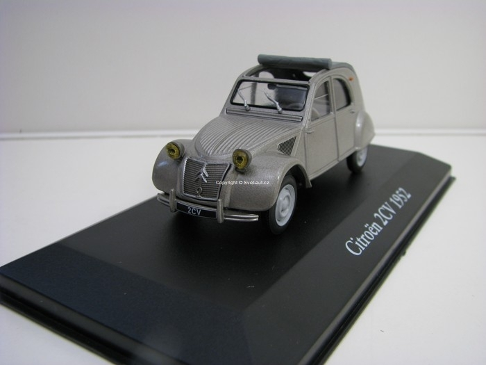 Citroen 2CV 1952 grey 1:43 Atlas