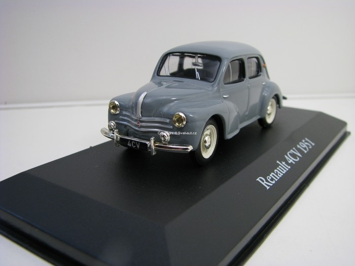 Renault 4CV 1951 Grey 1:43 Atlas Edition