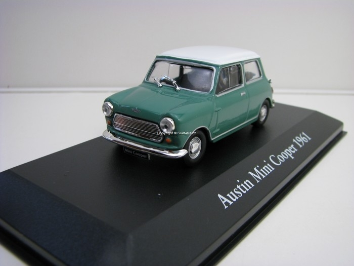 Austin Mini Cooper 1961 Green/White 1:43 Atlas Edition