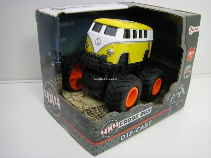Volkswagen Cross Bus 4x4 BIG Wheels Yellow Toi-Toys
